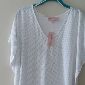 NWOT White&black Philosophy short sleeve blouse